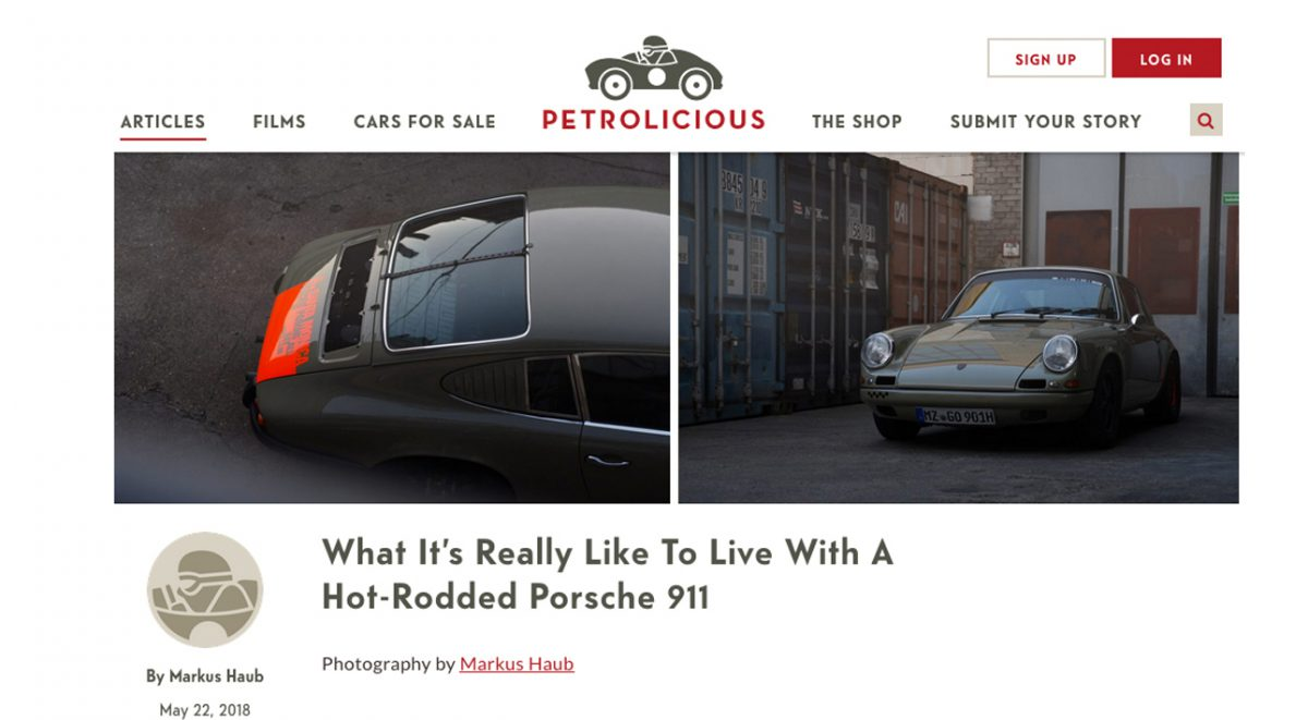 Artikel @ Petrolicious__ What It's Really Like To Live With A Hot-Rodded Porsche 911
