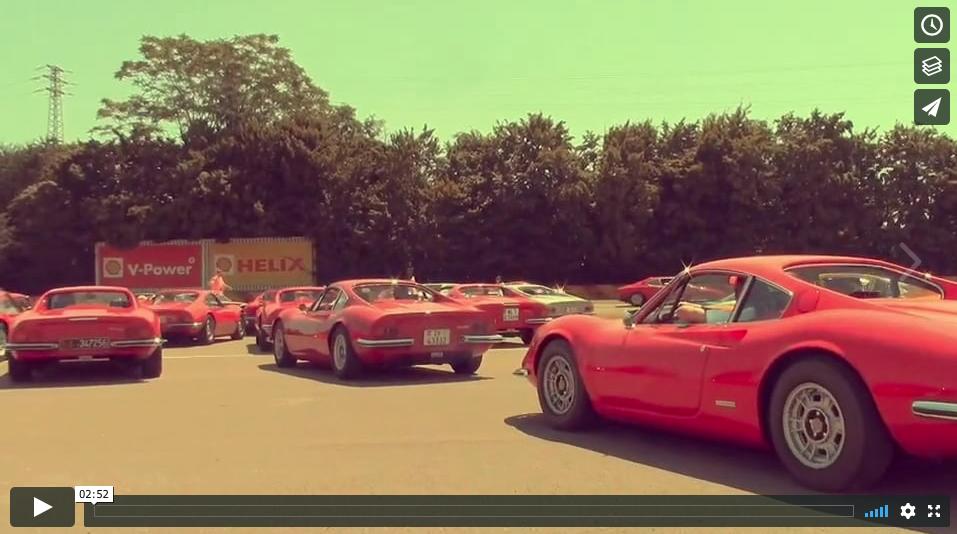 50 years of Ferrari Dino Celebration @ Maranello & Fiorano __THE VIDEO